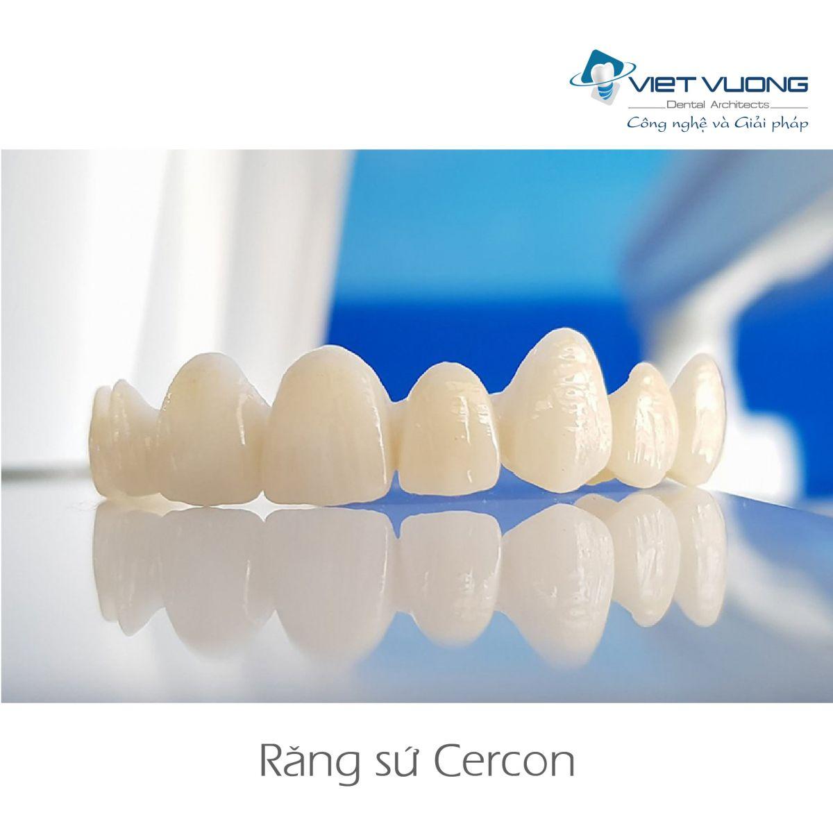 Răng sứ Zirconia – CAD/CAM CERCON